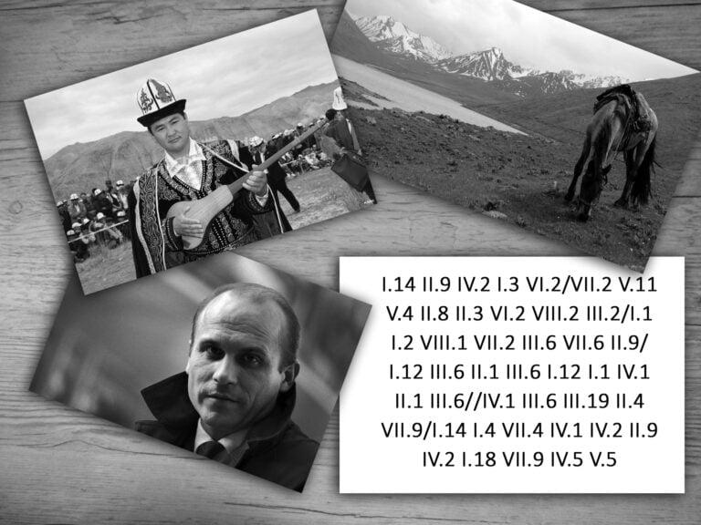 Trzy zdjęcia ikartka zzaszyfrowanym tekstem. Napierwszym zdjęciu mieszkaniec byłej republiki ZSRR wnakryciu głowy, które nazywa się kałpak. Nadrugim zdjęciu koń pasący się natle gór. Natrzecim zdjęciu młody Ryszard Kapuściński. Nakartce tekst. Jedynka rzymska kropka czternaście. Dwójka rzymska kropka dziewięć. Czwórka rzymska kropka dwa. Jedynka rzymska kropka trzy. Szóstka rzymska kropka dwa. Koniec wyrazu. Siódemka rzymska kropka dwa. Piątka rzymska kropka jedenaście. Piątka rzymska kropka cztery. Dwójka rzymska kropka osiem. Dwójka rzymska kropka trzy. Szóstka rzymska kropka dwa. Ósemka rzymska kropka dwa. Trójka rzymska kropka dwa. Koniec wyrazu. Jedynka rzymska kropka jeden. Jedynka rzymska kropka dwa. Ósemka rzymska kropka jeden. Siódemka rzymska kropka dwa. Trójka rzymska kropka sześć. Siódemka rzymska kropka sześć. Dwójka rzymska kropka dziewięć. Koniec wyrazu. Jedynka rzymska kropka dwanaście. Trójka rzymska kropka sześć. Dwójka rzymska kropka jeden. Trójka rzymska kropka sześć. Jedynka rzymska kropka dwanaście. Jedynka rzymska kropka jeden. Czwórka rzymska kropka jeden. Dwójka rzymska kropka jeden. Trójka rzymska kropka sześć. Koniec wyrazu. Czwórka rzymska kropka jeden. Trójka rzymska kropka sześć. Trójka rzymska kropka dziewiętnaście. Dwójka rzymska kropka cztery. Siódemka rzymska kropka dziewięć. Koniec wyrazu. Jedynka rzymska kropka czternaście. Jedynka rzymska kropka cztery. Siódemka rzymska kropka cztery. Czwórka rzymska kropka jeden. Czwórka rzymska kropka dwa. Dwójka rzymska kropka dziewięć. Czwórka rzymska kropka dwa. Jedynka rzymska kropka osiemnaście. Siódemka rzymska kropka dziewięć. Czwórka rzymska kropka pięć. Piątka rzymska kropka pięć.