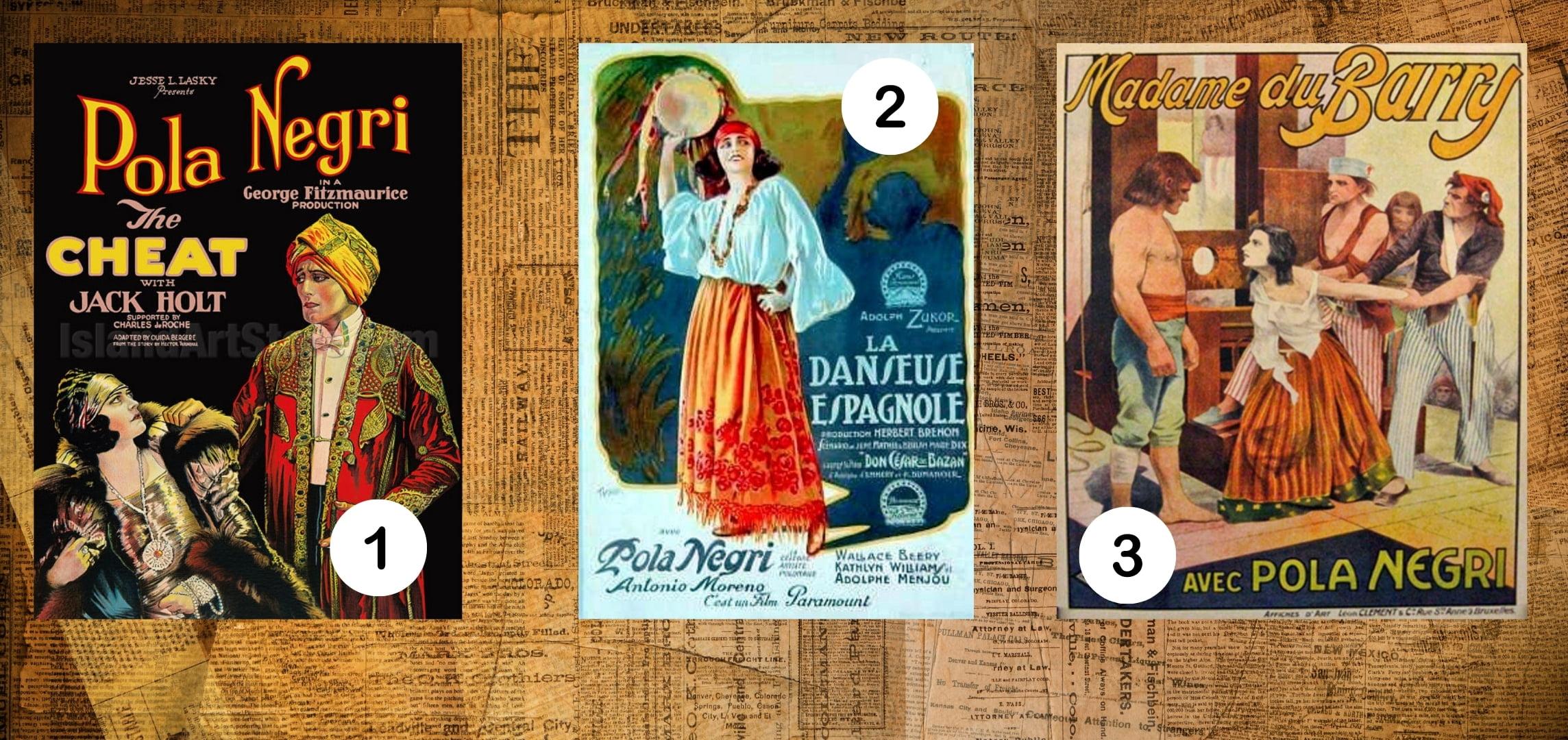 Numer jeden tofilm Napiętnowana, Numer dwa tofilm Tancerka hiszpańska. Numer trzy tofilm Madame du Barry.